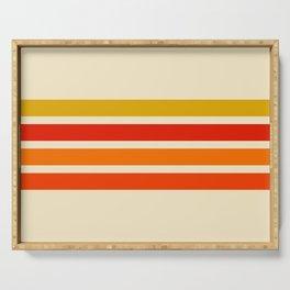 Abstract Minimal Retro Stripes 70s Style - Nagatane Serving Tray