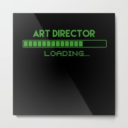 Art Director Loading Metal Print