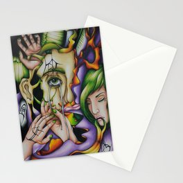 Don't See No Evil, Don't Speak No Evil, and Don't Hear No Evil Stationery Cards