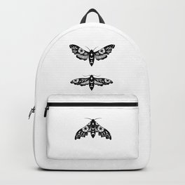 Lime Hawk Moths Night - Black Backpack