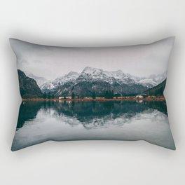 Snow Mountain Reflecting In The Lake Rectangular Pillow