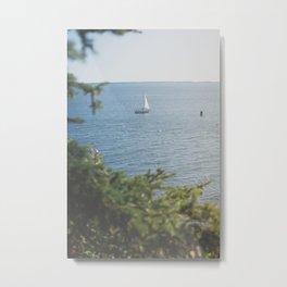 New England Sailing x Nautical Art Metal Print