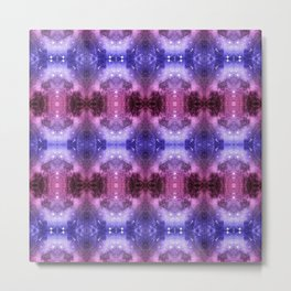 Beautiful Blaue Pink Space Pattern Metal Print
