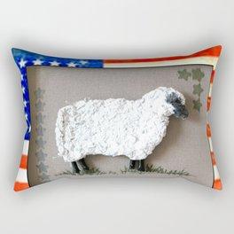 Lambkins, the Patriot Rectangular Pillow