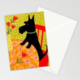 Scottie Dog and Tulips Stationery Cards