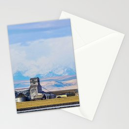 Molt, Montana and Cloud Covered Mountains Stationery Cards
