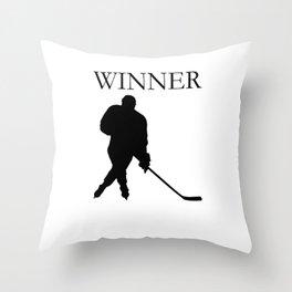 Eis Hockey Winner Spieler Ausrüstung Throw Pillow