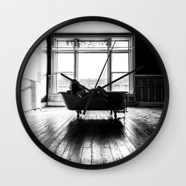 Relax in Black and White Wall Clock
