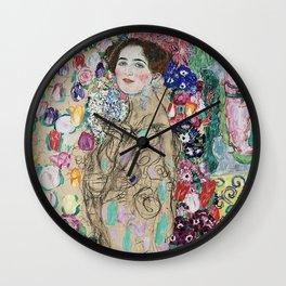 PORTRAIT OF RIA MUNK - GUSTAV KLIMT Wall Clock