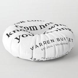7   | Warren Buffett Quotes | 190823 Floor Pillow