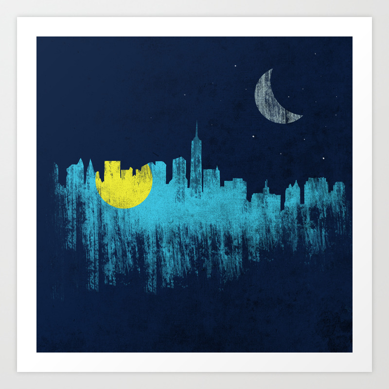 City That Never Sleeps Art Print by Jeremybingham PRN153047