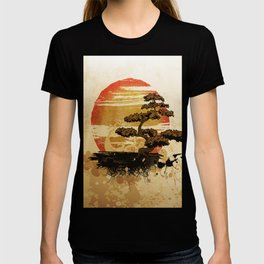 Bonsai Tree In The Sunset T-shirt