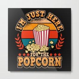 Movie Cinema Cinema Movie Popcorn Funny Saying Metal Print