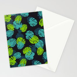 Ever Green Lady Plant Tropical Jungle Green Palette Stationery Cards