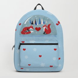 Christmas foxes in love Backpack