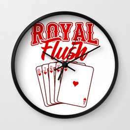 Royal Flush Poker Gifts For Poker Players Wall Clock