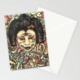 Geisha Doodle Flat Stationery Cards