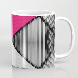 Black White and Bright Pink Coffee Mug