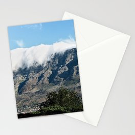Cloudy Table Mountain Cape Town, South Africa Stationery Cards