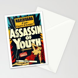 Vintage Assassin of Youth Poster Stationery Cards
