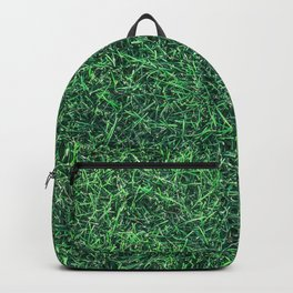 Green Grassy Texture // Real Grass Turf Textured Accent Photograph for Natural Earth Vibe Backpack