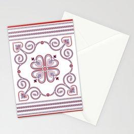Portuguese Folk Pattern – Viana do Castelo embroidery Stationery Cards