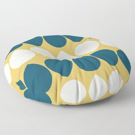 Wilma in Yellow, Navy Blue, Ivory Floor Pillow