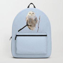 Snowy in the Wind (Snowy Owl) Backpack