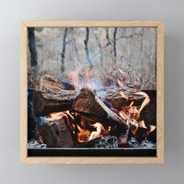 S'more Campfire Framed Mini Art Print