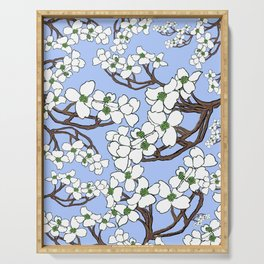 Dogwood perinkle Serving Tray