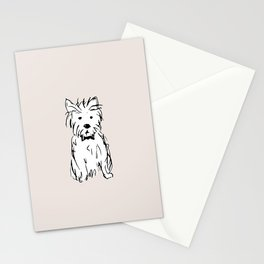 Milo the dog Stationery Cards