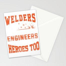 Welders, because engineers need heroes too Stationery Cards