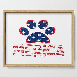 AMERICAN DOG PAW PRINT Serving Tray