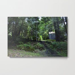cabin in the woods with steps Metal Print