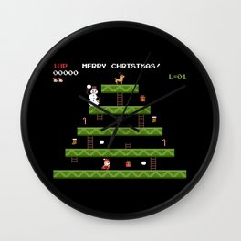 MERRY CHRISTMAS VIDEO GAME Wall Clock