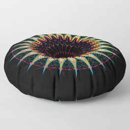 Futuristic Zen Mandala Floor Pillow
