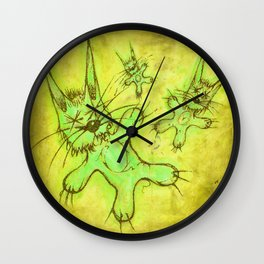 Record Cover for some Jazzed Rabbits, Yellowish. Wall Clock