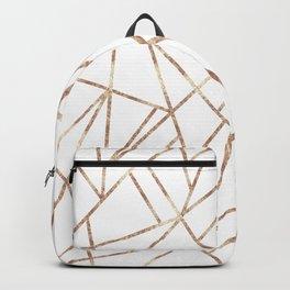 Classic White Rose Gold Geo #1 #geometric #decor #art #society6 Backpack