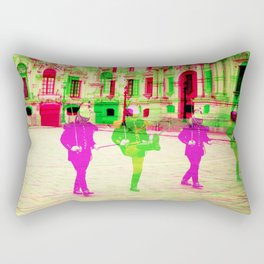 Peruvian Soldiers  Rectangular Pillow