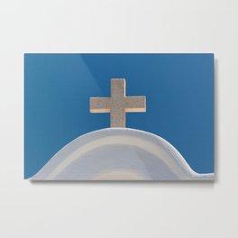 Greek Cross Metal Print
