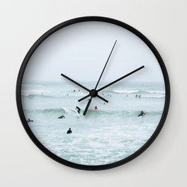 Tiny Surfers Lima, Peru 2 Wall Clock