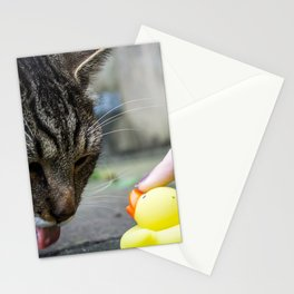 Cat sticking out his tongue. Stationery Cards