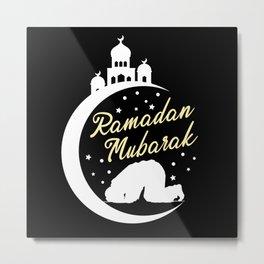 Ramadan Mubarak Mosque Moon Kareem Muslim Islamic Metal Print