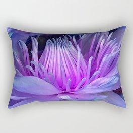 Tropical Hawaiian Luxurious Lilac And Pink Flower Rectangular Pillow