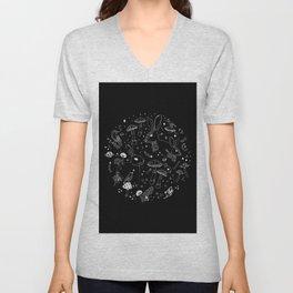 Stars & Animals Cosmic Constellation Pattern Unisex V-Neck