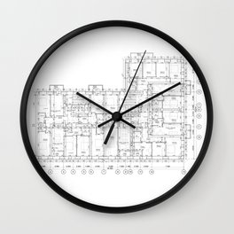 Detailed architectural floor layout Wall Clock