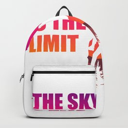 The Sky Is The Limit Rock Climber or Boulderer Gift Backpack