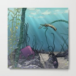 Pink cube travel #1 Findings under the sea Metal Print