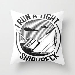 Sinking ship Throw Pillow