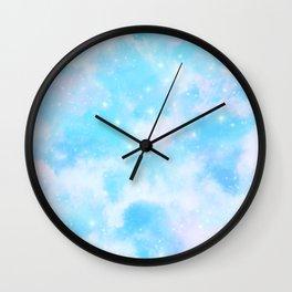 Pastel Cloulds Sky Seamless Nebula 159 Wall Clock